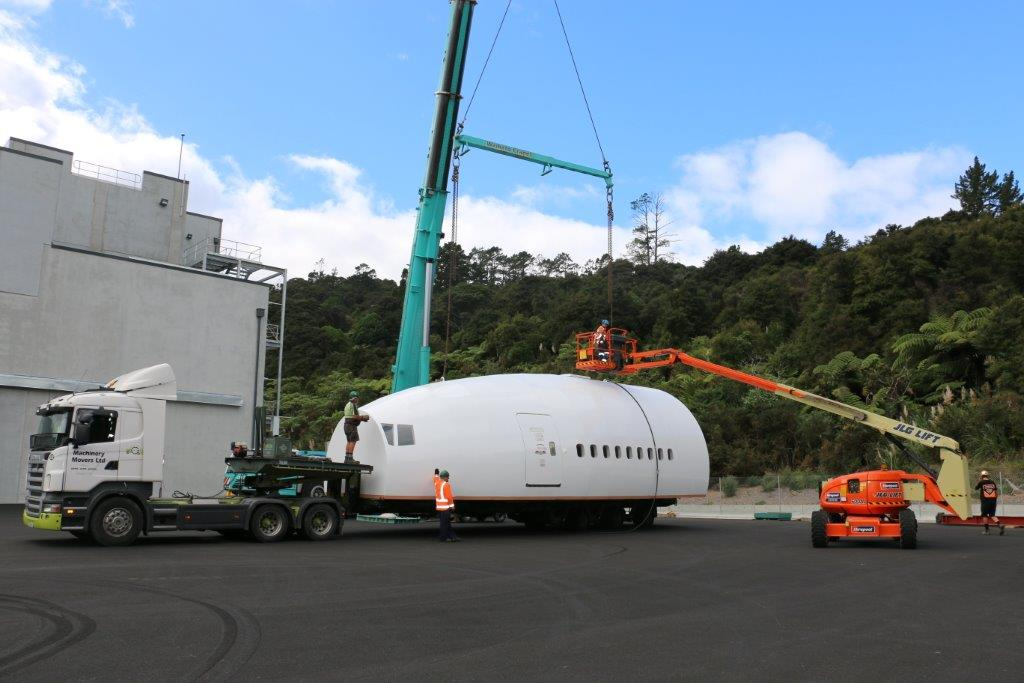 imgUpper Fuselage Training Module Unloading at Site