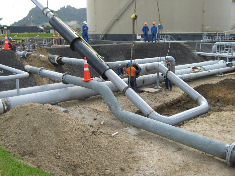 imgSPIIND fabricated piping spool installation at Refining NZ