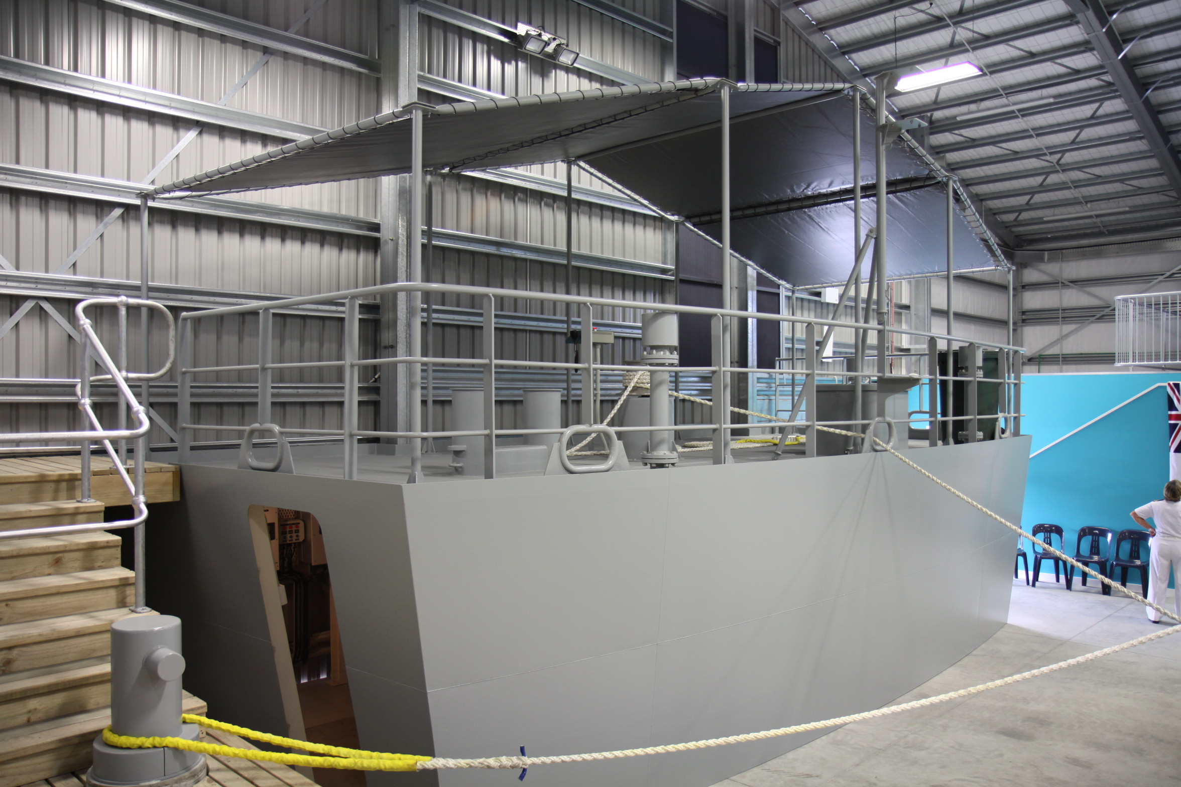 imgCompleted Offshore Patrol Vessel (OPV) Stern or Quarterdeck Module
